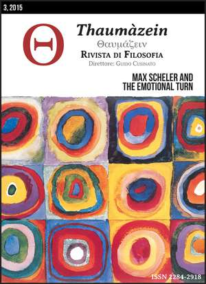 MAX SCHELER AND THE EMOTIONAL TURN